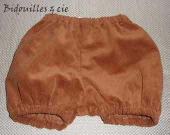 Camel corduroy bloomers elasticated waist