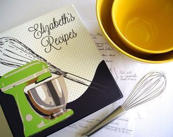 Personalized Stand Mixer Recipe Binder