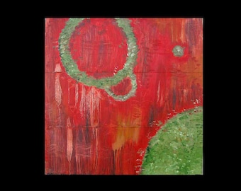 Abstract Art for Sale Surreal Art Home Decor 24x24 12x12 Canvas Giclee of Copper Painting is a whole new art form Karina Keri Matuszak
