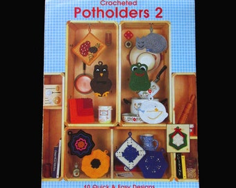 Crochet, Crochet Patterns, How to crochet, Leisure Arts Crocheted Potholders 2 Leaflet 336