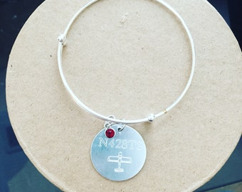 Tail number bangle