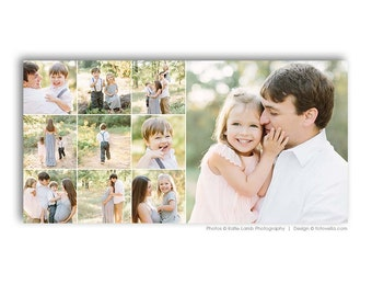 10x20 Photo Collage Storyboard Template - For Photographers - Photoshop Required - STORYLINE - 1530