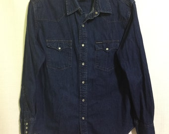 Vintage Calvin Klein Jeans Western Shirt Size L