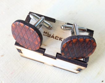 Wooden vintage style Cuff links