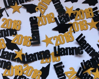 Graduation Confetti, Graduation Decorations, Graduation Party Decorations, Photo Prop, Class of 2018 Confetti, Name Confetti, Table Decor
