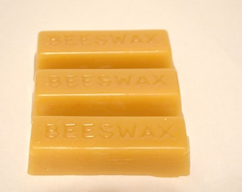 100% Pure Natural Beeswax Blocks - 3 one ounce blocks- great for crafters, Bakers, People want to make natural products and many more