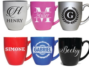 Personalized Coffee Mug, Latte Mug, Unique Coffee Mug, Personalized Mug, Cappuccino Cup Ceramic Coffee Mug Monogram Coffee Mug Coffee Gifts