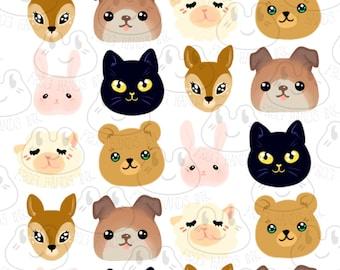 Kawaii  Planner Animal Stickers