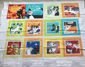 A Cat Tale Fabric Book Panel