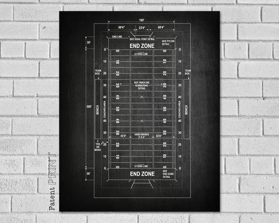 Football Field Diagram Gifts Patent