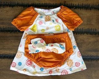 baby girl clothes / Boho girl dress / Organic girl clothes / Baby girl outfit / Baby girl dress set / New vintage baby clothes