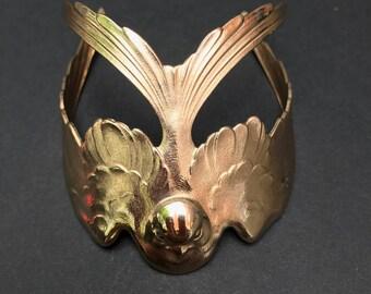 Solid Brass Goldtone Swallow bracelet
