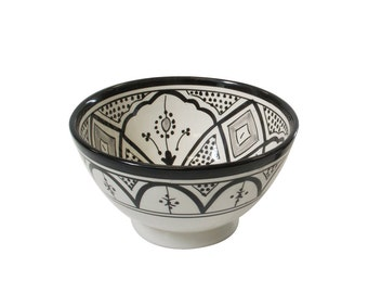Handmade Moroccan Small Salad/ Cereal Bowl, Handpainted Classic Design