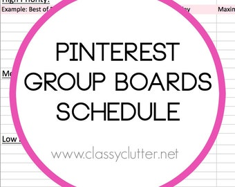 Pinterest Group Boards Schedule