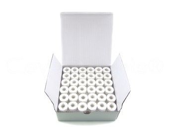 144 Size L White Prewound Bobbins - SA155 Replacement Bobbins - Fits Many Sewing and Embroidery Machines - See Compatibility List - Type L