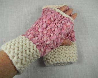 Wrist Warmers, Fingerless Gloves, Fingerless Mittens, Texting Gloves, Hand Warmers, Hand Knit Wrist Warmers, Gauntlets