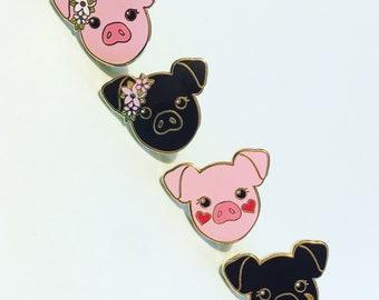Hard Enamel Pig Pin