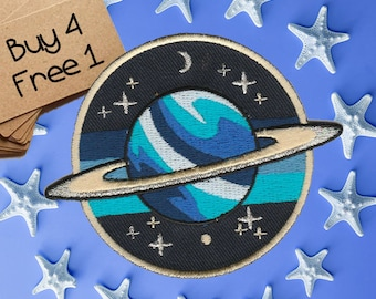 Planet Patches Space Patches Iron On Patch Embroidered Patch Jacket Patches Patches For Clothes