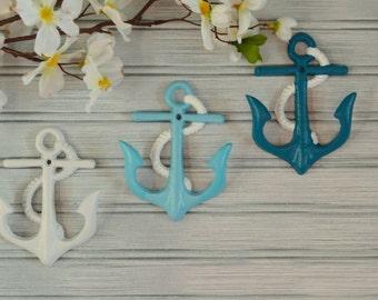 Anchor Hook. Nautical Hook. Beach Decor. Nautical Decor. Coastal Decor. Towel Hook. Bathroom Hook. Bathroom Decor. Kitchen Decor.