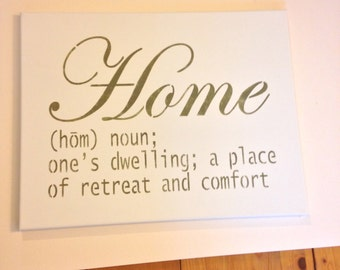 """Home 14""""x18"""" wall canvas"""