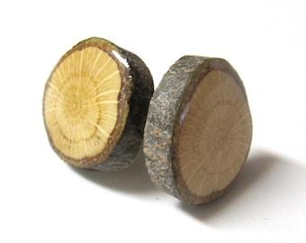 Wood Cufflinks | Groomsmen Gift | 5th Anniversary Gift | Wedding Cufflinks | Mens Cufflinks - Oak