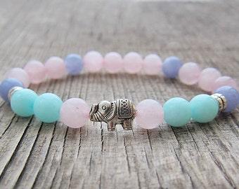 Yoga Bracelet Gemstone Bracelet Balance Bracelet Heart chakra bracelet Gift ideas for women Housewarming gifts for girls Bohemian bracelet
