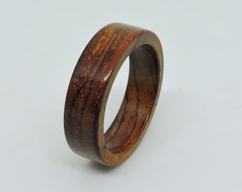 Cocobolo Wood Ring, Wedding Ring, Unique Ring