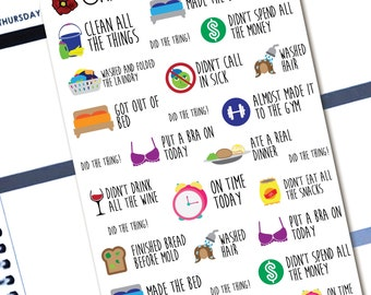 Little Adulting Successes - Planner Stickers for Erin Condren Life Planners - D3