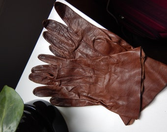 Vintage 1960s Leather Gloves