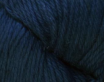 Navy Blue Cascade Hampton Pima Cotton and Linen DK Weight Yarn 273 yards color 12