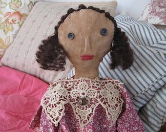 Primitive Folk Art Doll Laura Mae, OOAK, FAAP, Primitive Dolls, Folk Art Dolls, Primitive Decor