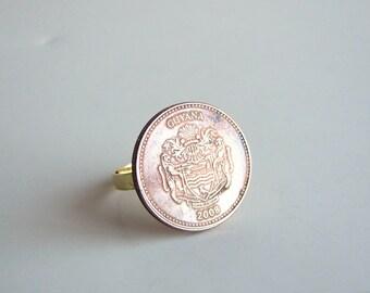 2008 Guyana coin ring