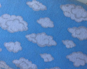 Marcus-Brothers-Fabric-By-The-Yard-Clouds-Blue-Cotton-Flannel-Quilt-Fat-Quarter-Sew-DIY-Projects-Crafts-Supplies