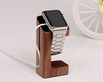 Wooden apple watch stand watch charging charging holder apple watch phone wooden base