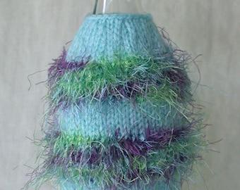 Blue Wine Bottle Cover and Hat (wine bottle bling)