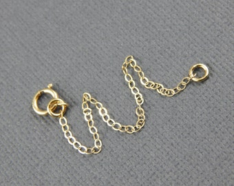 """Necklace extender - 1"""" , 2"""", 3"""", 4"""" or 5"""", gold filled extender chain"""