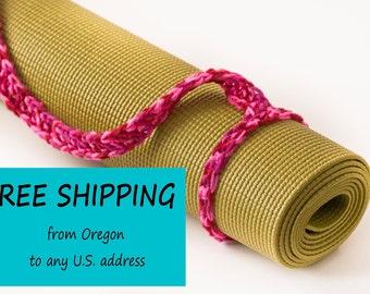 Yoga Mat Strap Sling, Yoga Bag, Candy Print, Slim Tote Handle - US Shipping Included,Original HH Design