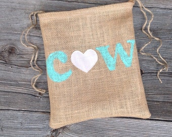 Burlap Bag, Dollar Dance Bag, Personalized Wedding Gift, Rustic Wedding, Woodland Wedding, Rustic Bag, Bridal Bag, Mint Wedding, Monogram
