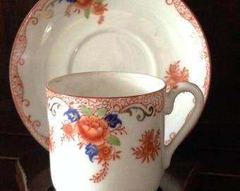 Vintage Chikaramachi Demitasse Cup & Saucer