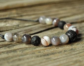 Botswana Bracelet, Diffuser Bracelet, Beaded Diffuser, Essential Oils, Oil Diffuser, Yoga Bracelet, Meditation Bracelet, Healing Bracelet