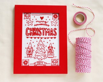 Christmas Sampler Hand Embroidery Pattern