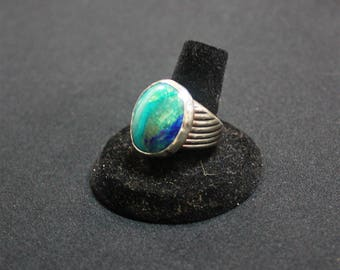 Chrysocolla Ring 925