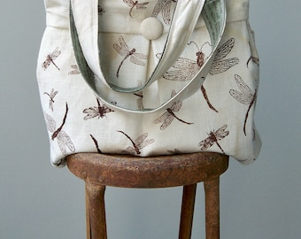 Dragonfly Diaper Bag, Bird, Sage, Extra Large, 6 Pockets