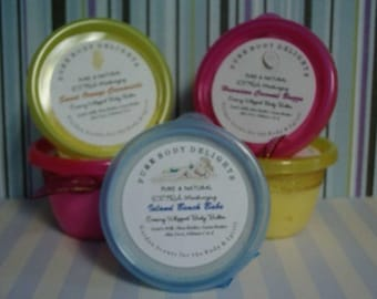 Hawaiian Coconut Breeze---Whipped Body Butter---Shea Butter--Cocoa Butter--With a touch of glimmer shimmer