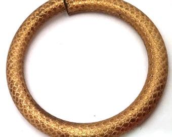 Vintage Solid Brass Tube Bangle Bracelet Finding