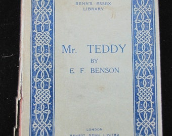 Mr Teddy  // AKA Mr Tortoise // 1929 English Vintage Novel Hardback // Rare with Dust Jacket // Excellent Condition // Collectible