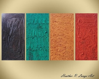 HEAVILY Textured Art Original Abstract Canvas Painting Home Decor Made To Order
