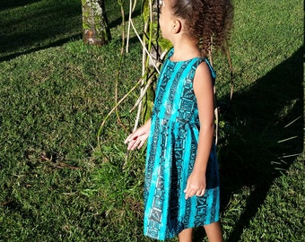 Tribal turquoise girls dress 5t SOLD OUT