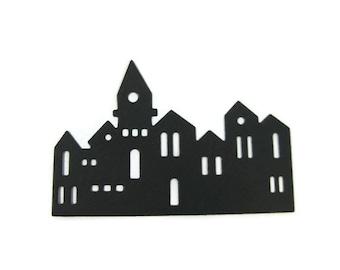 Paper Jerusalem Skyline Die Cut Set of 15