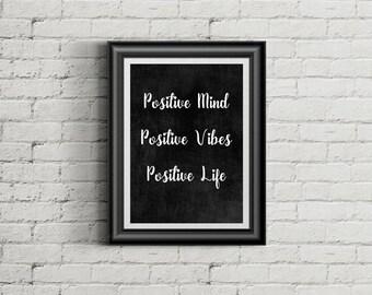 chalkboard print, quote print, chalkboard quote, positive quote,positive print, word art,print,poster,chalkboard,chalk,motivational print